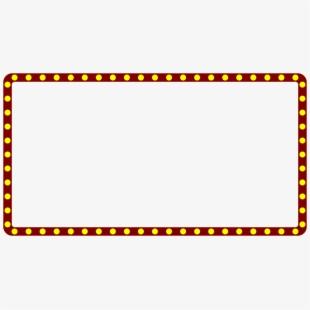 Theatre clipart border. Marquee lights concessions menu