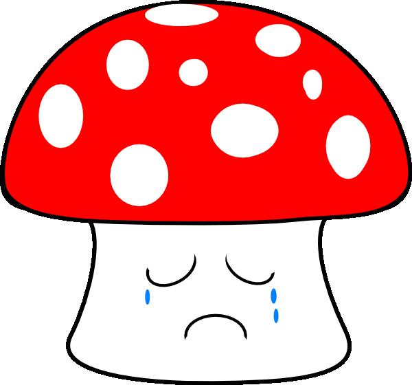 Mushroom clip art at. Mushrooms clipart sad