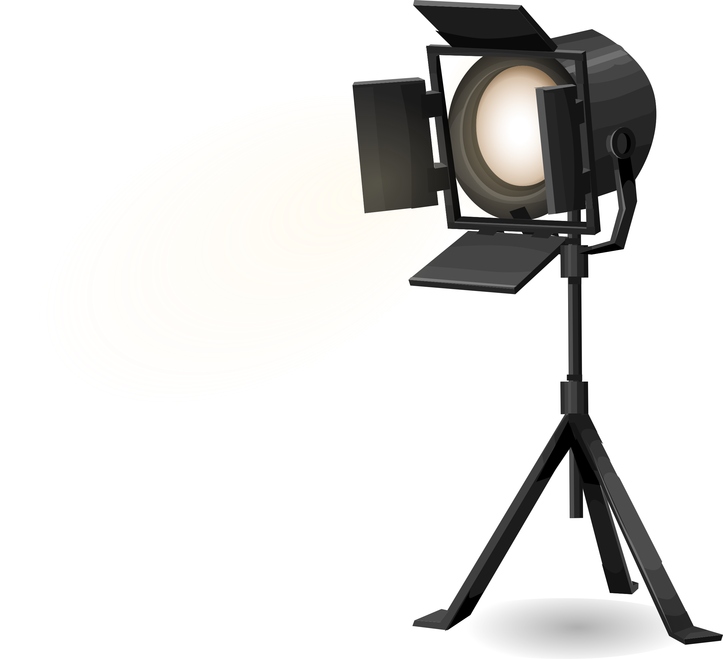 Photography clipart tripod. Stage spotlight on from
