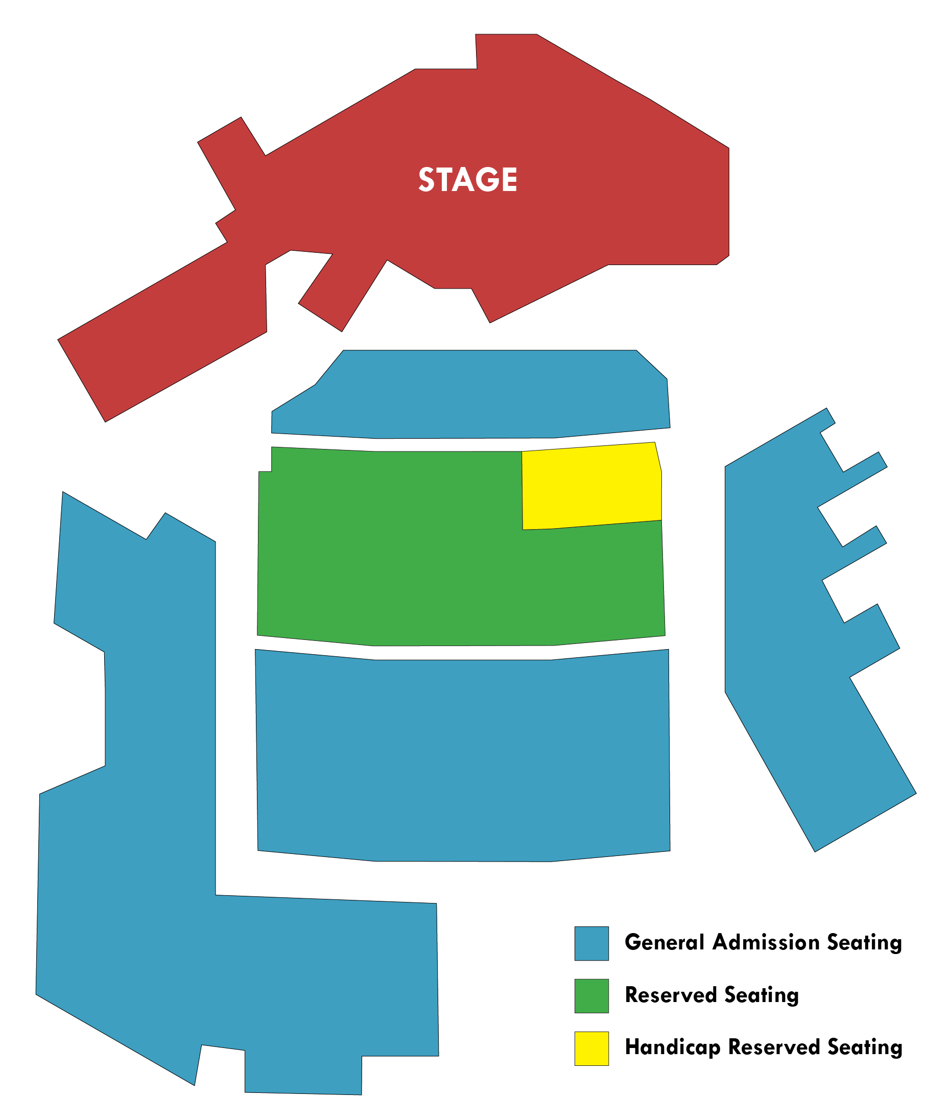Seating charts northern sky. Lighting clipart stage direction