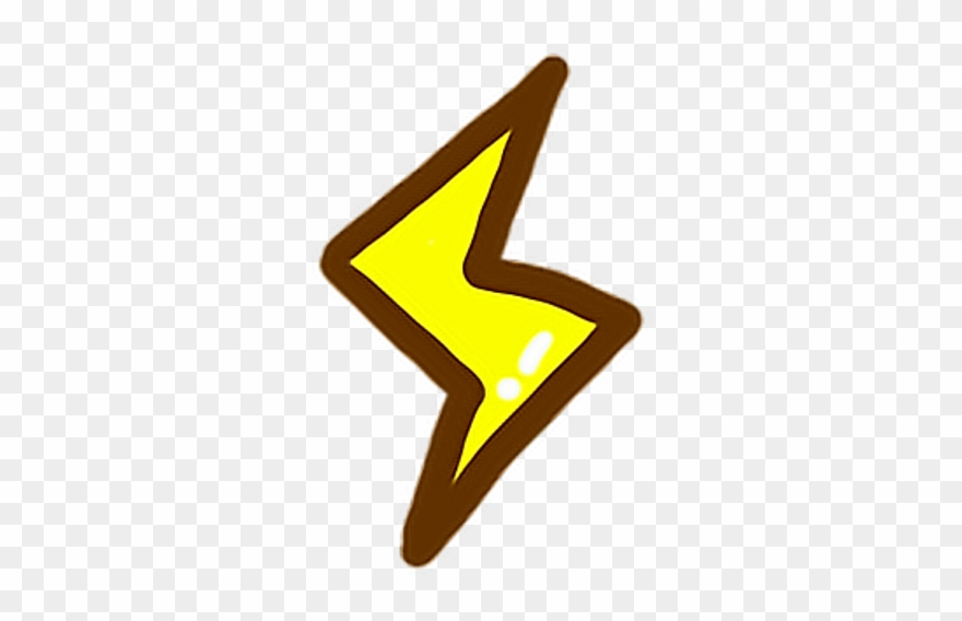 Yellow light thunder thunderstorm. Lightning clipart cute
