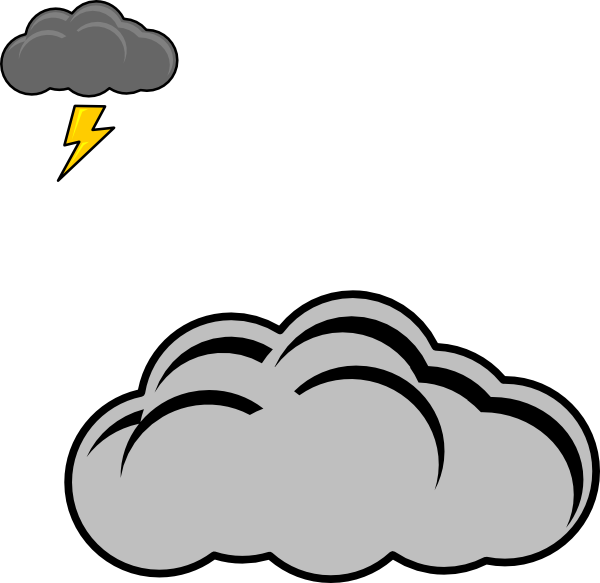Lightning clipart thundercloud.  collection of thunder