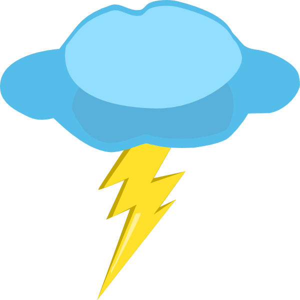 Thunder and at getdrawings. Lightning clipart svg