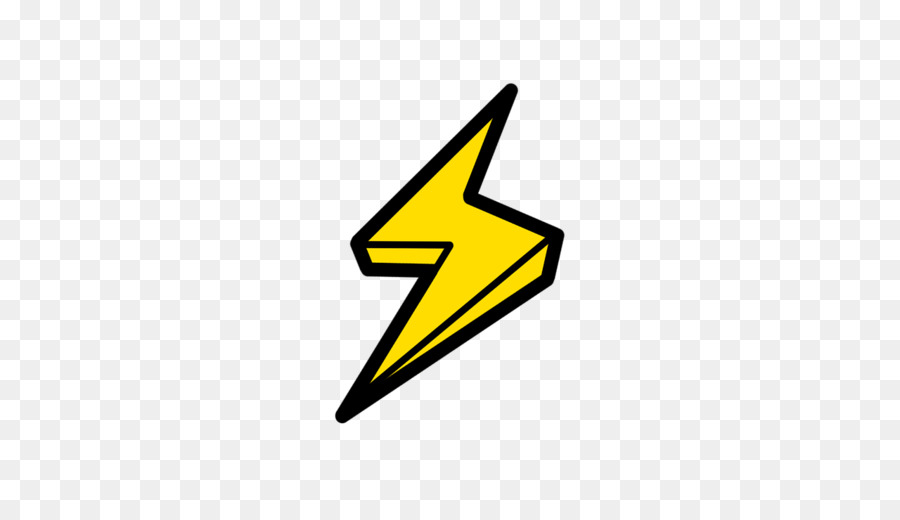 Lightning clipart. Cartoon technology triangle