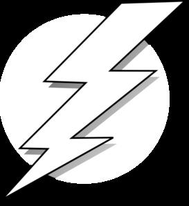 Black and white bolt. Lightning clipart artistic