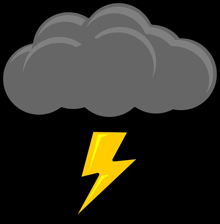 Thunderstorm clipart tag ulan. Lightning pop art free