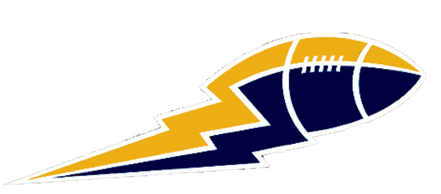Lightning clipart blue. Yellow and football boltbig