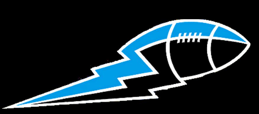 Lightning clipart blue. And black football bolt