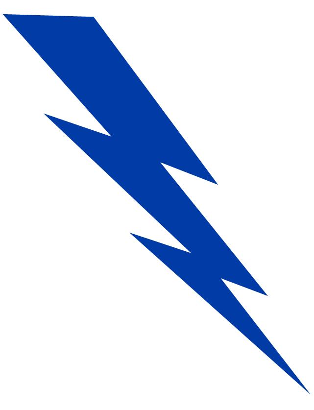 Station . Lightning clipart blue