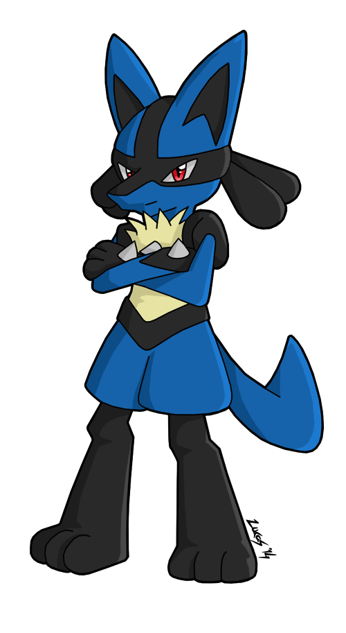 Lightning clipart crossed. Lucario by fire ice