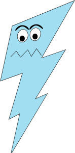 Lightning clipart face. Angry bolt clip art