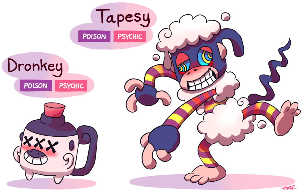 Fakemon dronkey tapesy by. Oil clipart geyser