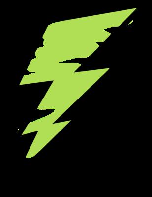 lightning clipart green