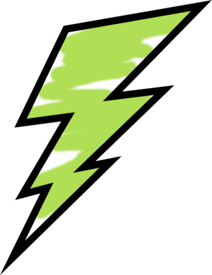 Painted bolt panda free. Lightning clipart green