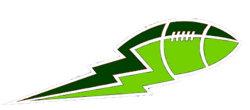 Lightning clipart green. Lime and football big
