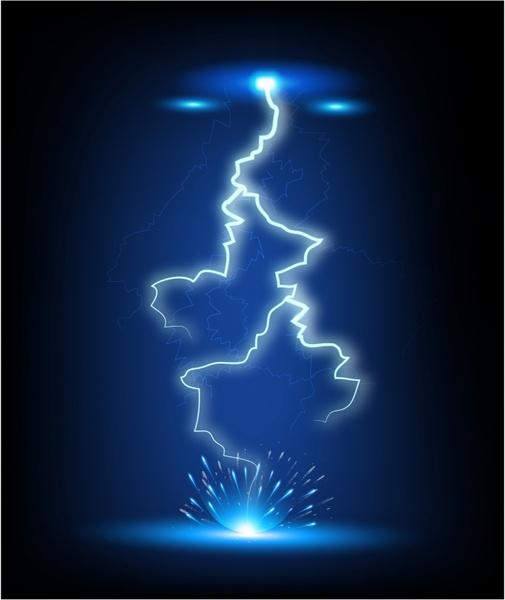 Flash strike free vector. Lightning clipart illustrator