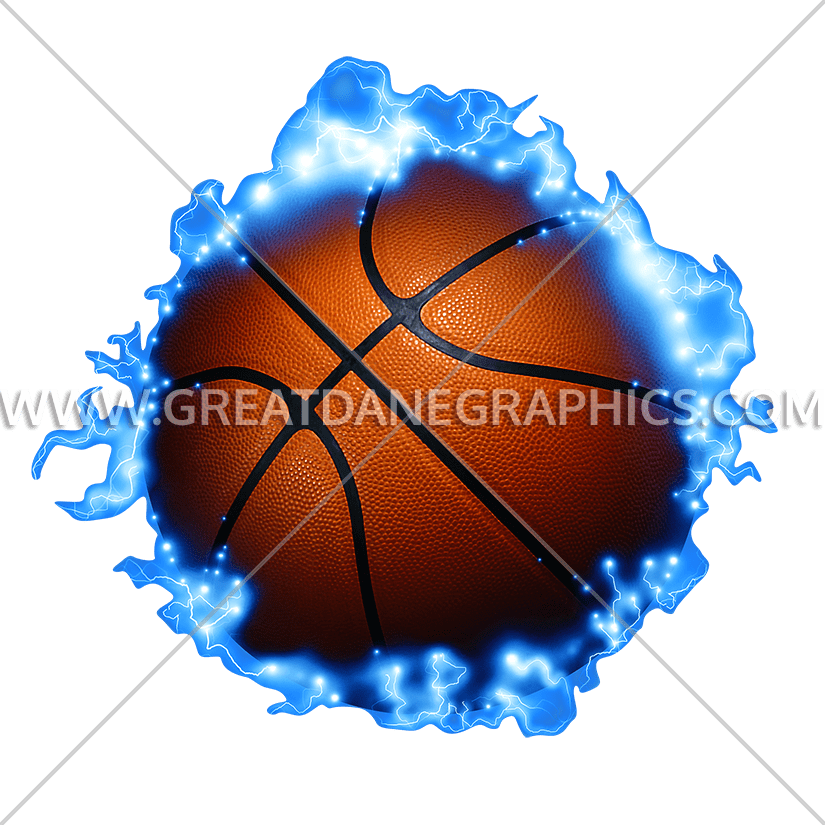 Lightning clipart illustrator. Basketball production ready artwork