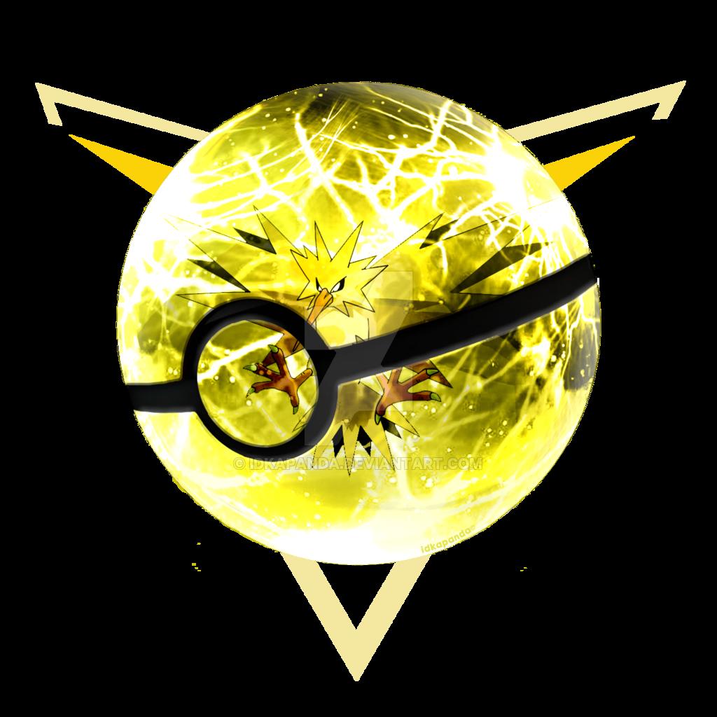 Team instinct from pokemon. Lightning clipart illustrator