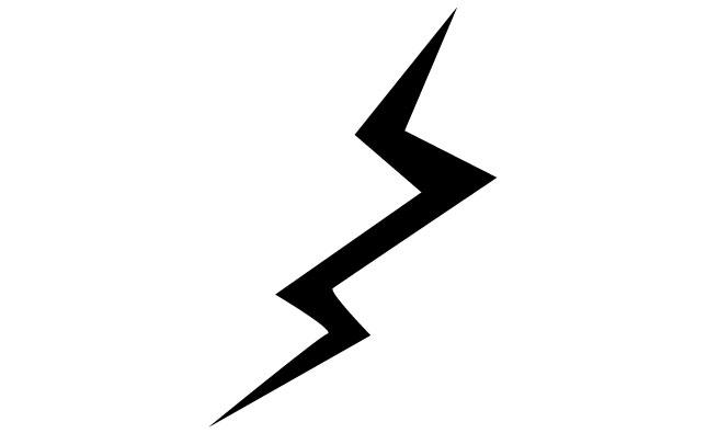 Lightning clipart illustrator. Free bolt vector download