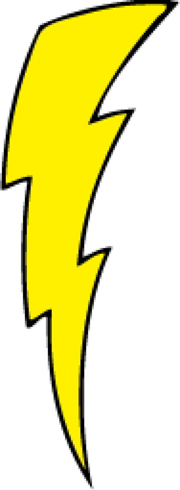 Lightning clipart lightning bolt. Yellow