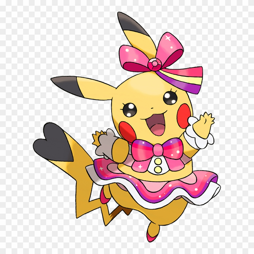 Pikachu clipart lightning. Pokemon pop star png