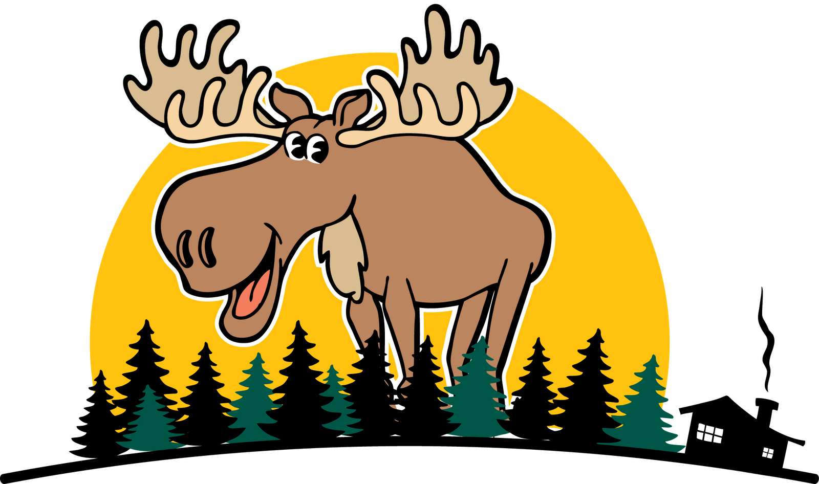 Moose cartoon free download. Lightning clipart printable