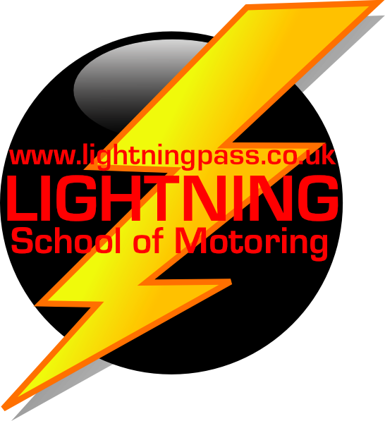 Lightning clipart red yellow. Driving schools maltby lessons