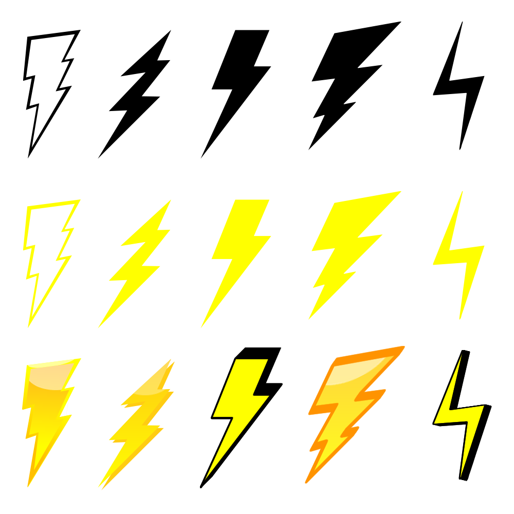 Lightning clipart royalty free. Bolt graphics download best