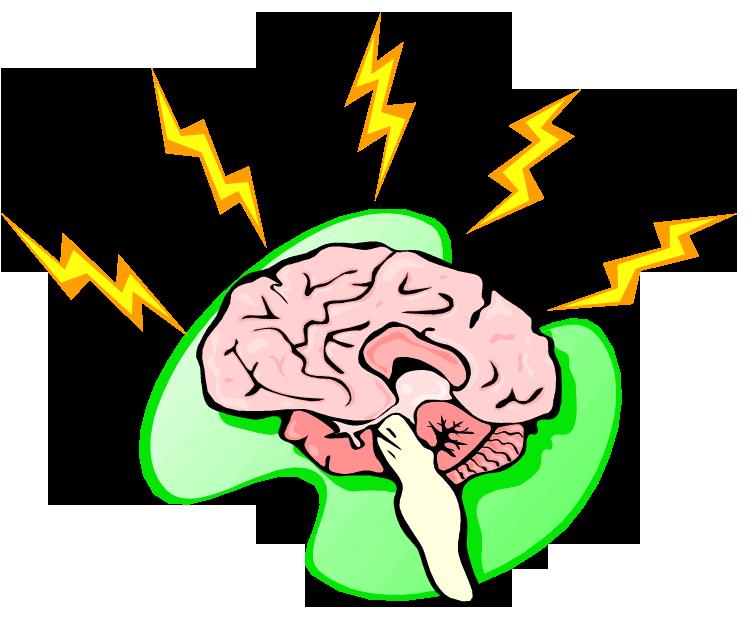 Brain . Lightning clipart royalty free
