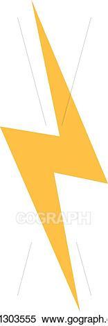 Lightning clipart simple. Vector illustration bolt icon