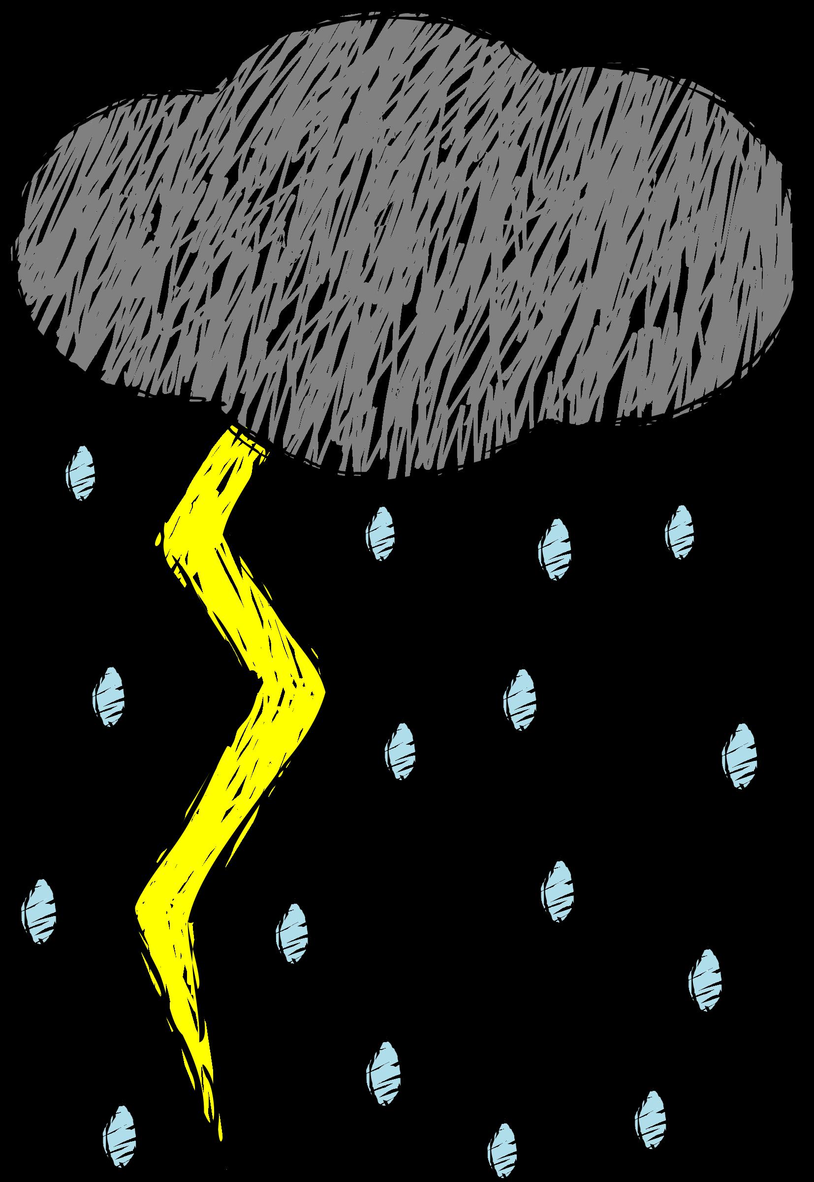 Lightning clipart sketch. Thunder and color big