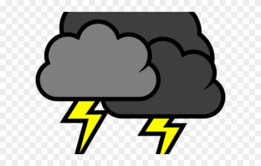 Thunderstorm clipart electrical storm. Cliparts cloud with lightning