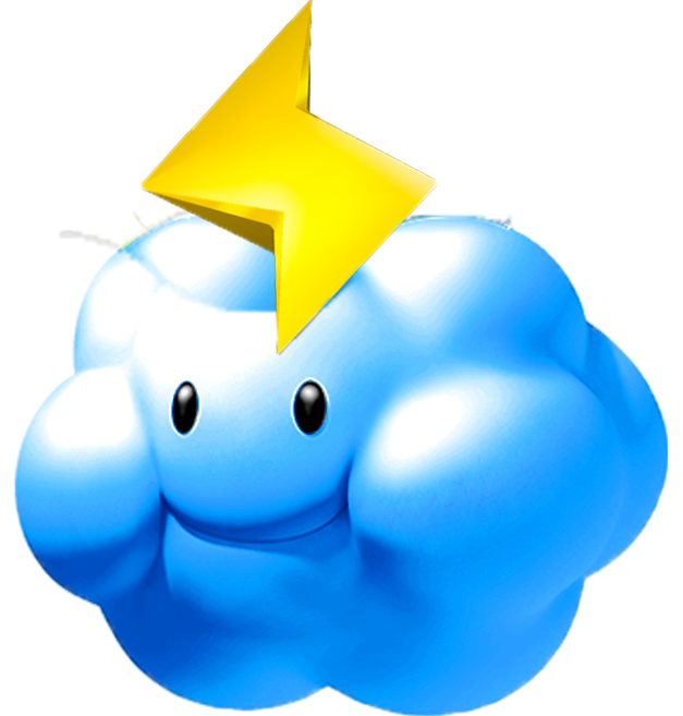 Image thunder cloud mario. Lightning clipart thundercloud