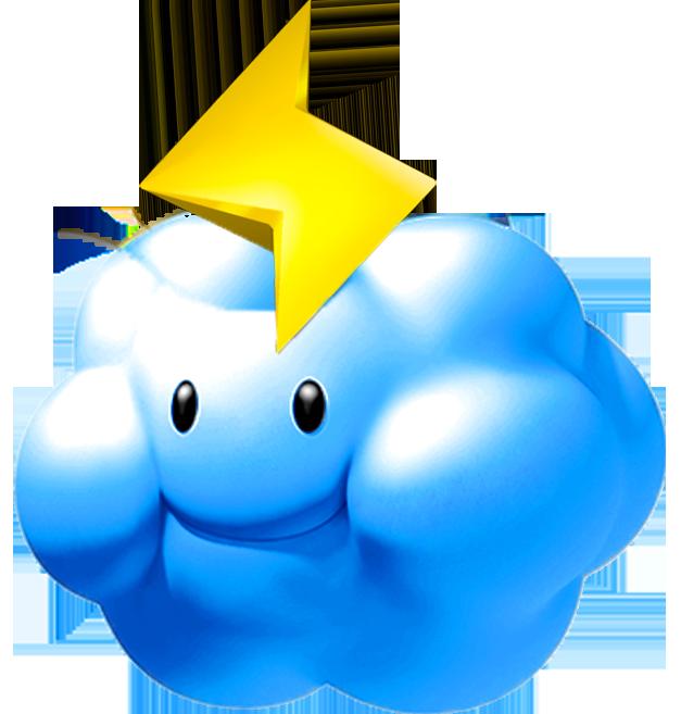 Image thunder cloud mario. Lightning clipart thundercloud