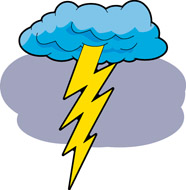 Lightning clipart thunderstorm. Free thunder cliparts download