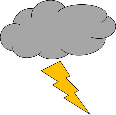 Lightning clipart thunderstorm. Thunder and picture images