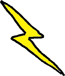 Free public domain clip. Lightning clipart