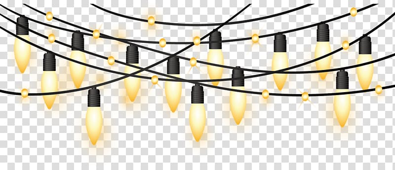 Lighted string christmas yellow. Lights clipart