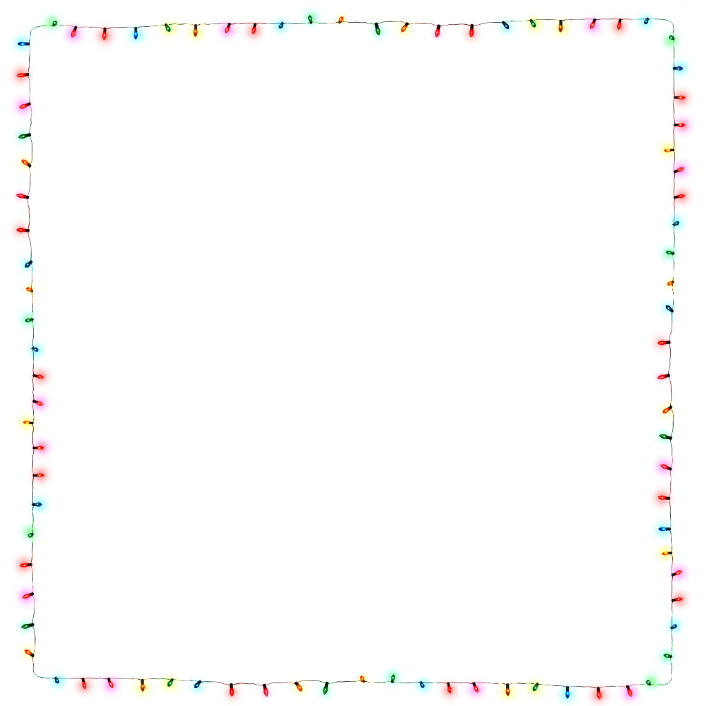 Bold and modern free. Christmas lights frame png