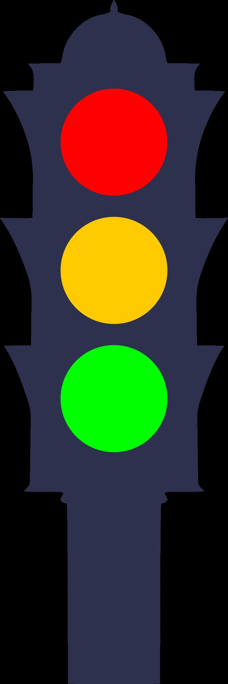 Traffic light big image. Lights clipart yellow
