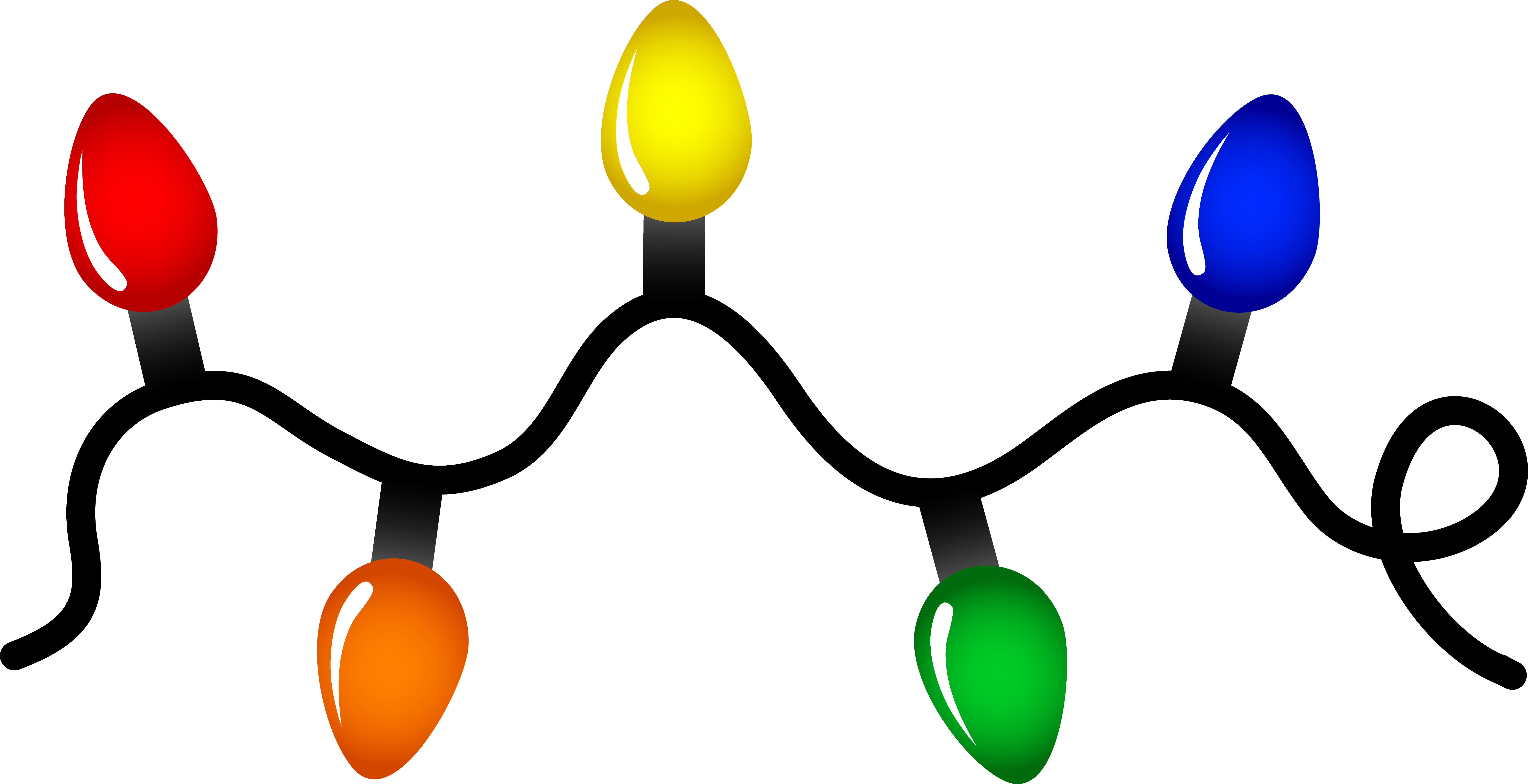 Lights clipart. Christmas