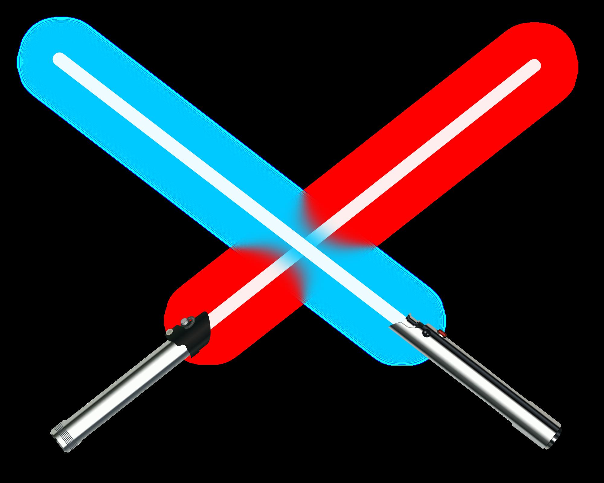 Starwars clipart light saber. File dueling lightsabers svg