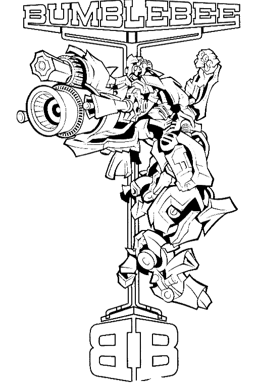 Lightsaber clipart coloring page. Transformers bumblebee transformer pages