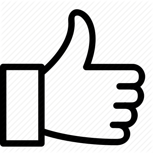 Like icon png. Thin voting awards by