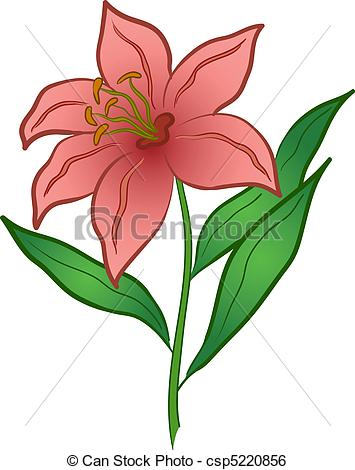 Flowers . Lily clipart