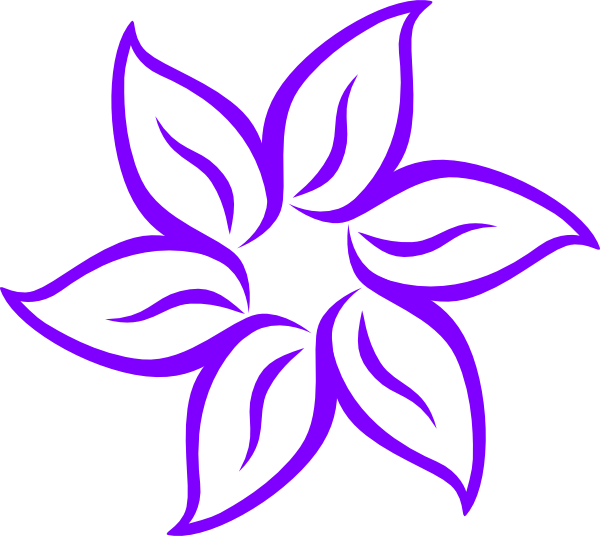 Lily clipart. Purple clip art at