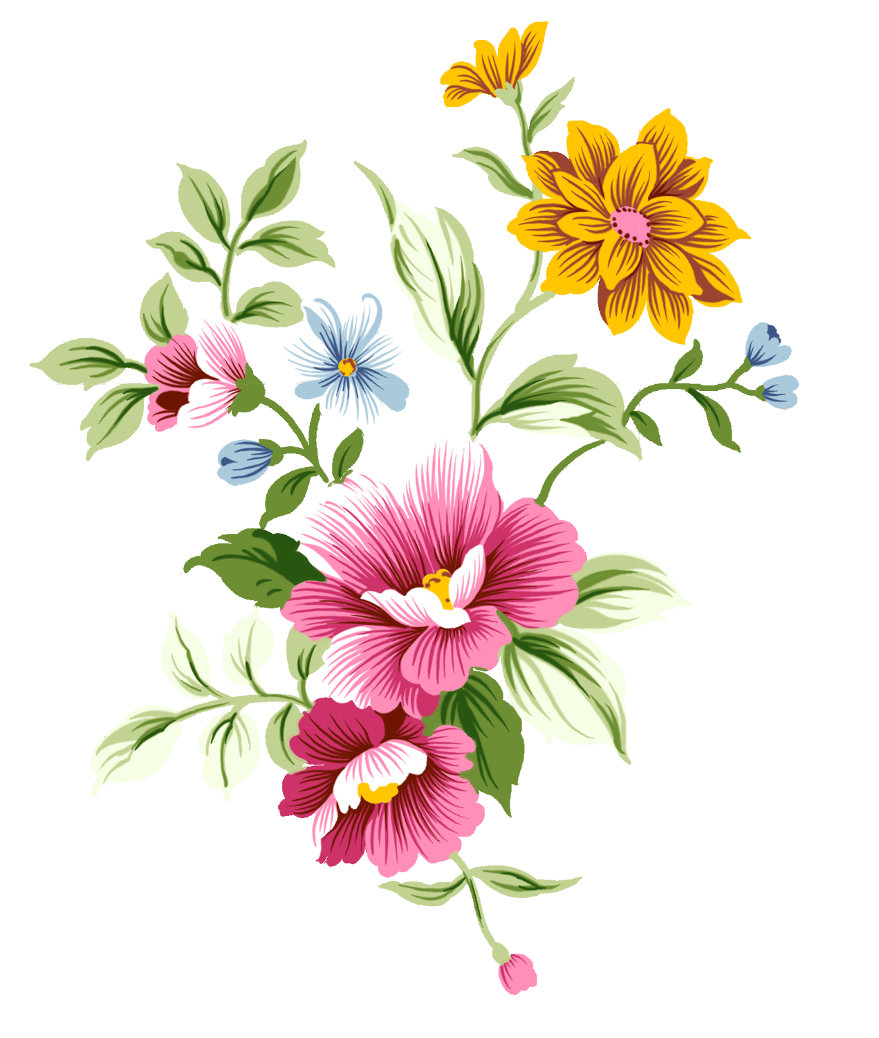 Thanks clipart bouquet. Art nouveau flowers transparent