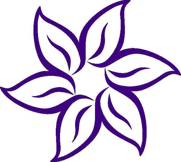 Lily clip art at. Vase clipart violet