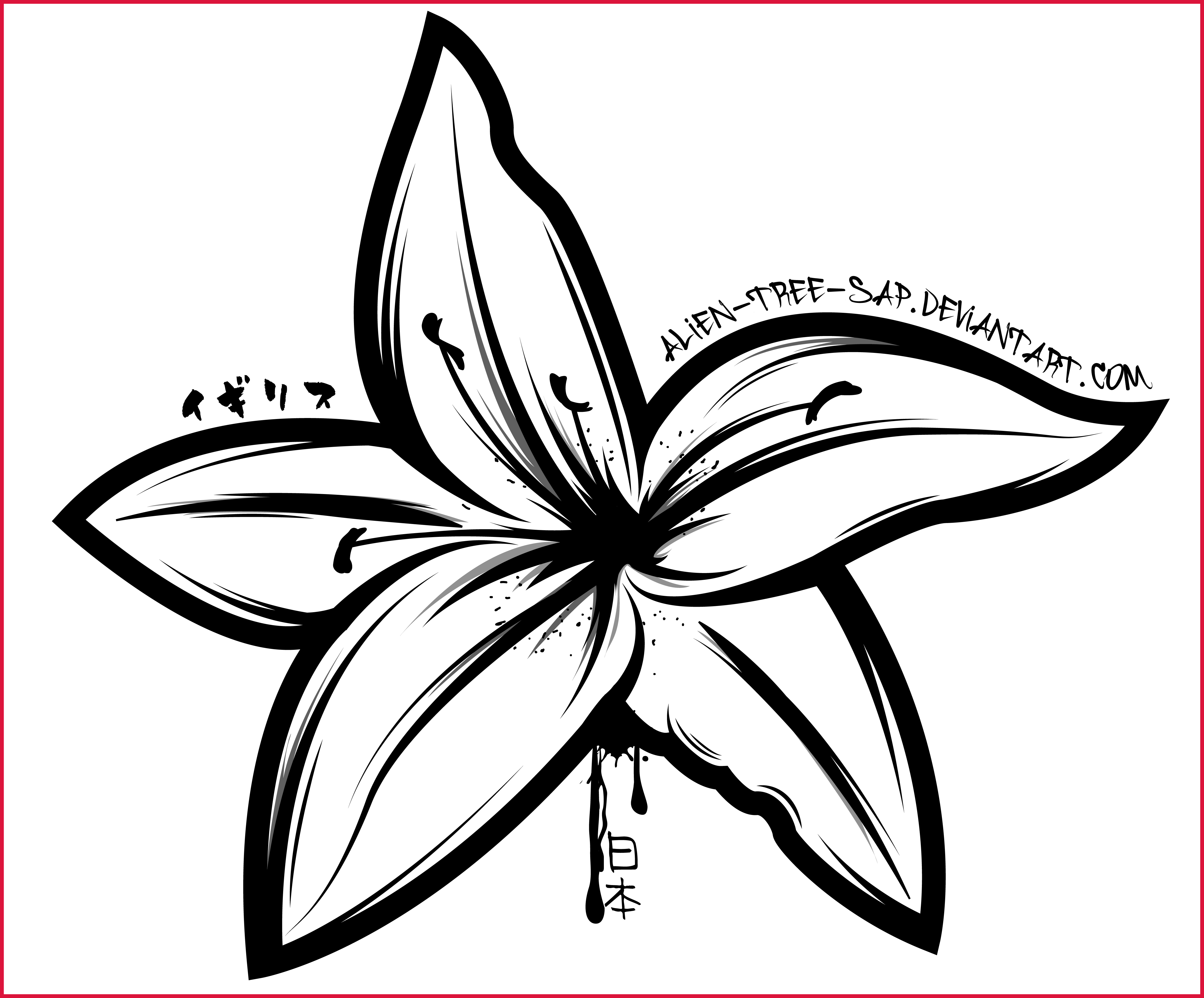 Water clipart outline. Best lily black and