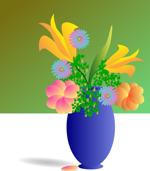 Lily clipart flower bunch. Bouquet of flowers clip